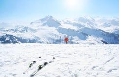 Zima sporta narty wakacje Obrazy Royalty Free