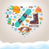 Zima sportów wyposażenia tło Zdjęcie Royalty Free
