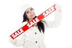 Zima sprzedaż Zdjęcie Stock