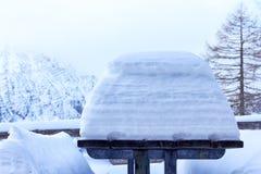 Zima stół Zdjęcie Royalty Free