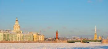 Zima St Petersburg zdjęcia royalty free