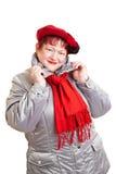 zima starsza kobieta fotografia stock