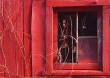 zima stodole okno Obrazy Royalty Free