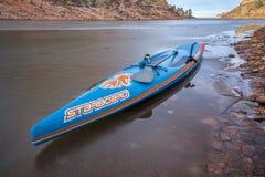 Zima stoi up paddling w Kolorado zdjęcie stock