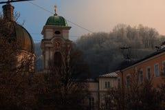 Zima stylu życia scena Salzburg Austria Obrazy Royalty Free
