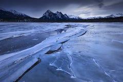 Zima Sumrise przy Kootenay równinami Zdjęcie Royalty Free