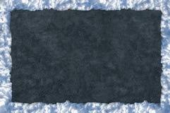 Zima szablonu rama lód i śnieg lodowisko fotografia stock
