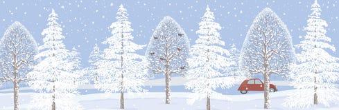 Zima sztandar royalty ilustracja