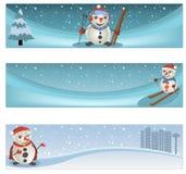 Zima sztandaru set Obrazy Royalty Free