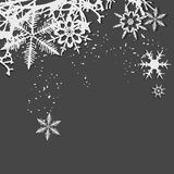 Zima tło, płatek śniegu Zdjęcie Stock