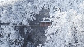 Zima, Tianmen g?ra w Zhangjiajie, Hunan, obrazy stock