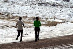 Zima trening zdjęcia royalty free