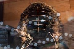 Zima ubiór na pokazie na sklepu okno obraz royalty free