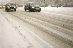 zima ulicy Zdjęcia Stock