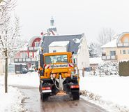 Zima usługuje pojazd Fotografia Stock