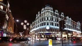 Zima w środkowych London bożych narodzeniach Fotografia Stock