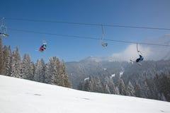 Zima w alps Zdjęcia Royalty Free
