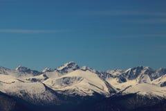 Zima w Altai górach Obrazy Royalty Free
