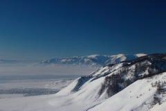 Zima w Altai górach Obraz Royalty Free