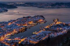 Zima w Bergen, Norwegia Zdjęcie Stock