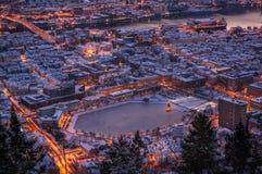 Zima w Bergen, Norwegia Fotografia Stock