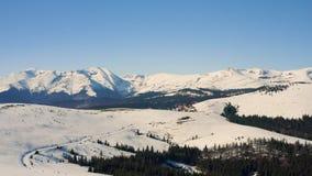 Zima w Carpatian g?rach, o?rodk?w narciarskich krajobrazowi wi
