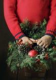 Zima w children rękach Obraz Royalty Free