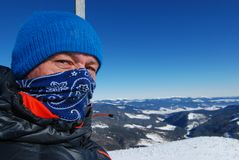 Zima w górach zdjęcia stock