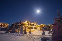 Zima w górach Fotografia Stock