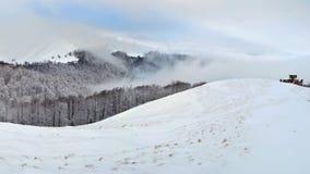 Zima w górach Carpathians Fotografia Royalty Free