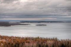 Zima w Gołębim Rzecznym prowincjonału parku w Północnym Ontario Th zdjęcie stock