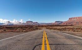 Zima w Grodowym Dolinnym Utah fotografia royalty free