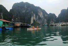 Zima w Halong zatoce, Wietnam, Azja Fotografia Royalty Free