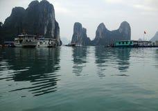 Zima w Halong zatoce, Wietnam, Azja Zdjęcia Royalty Free