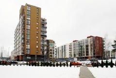 Zima w kapitale Lithuania Vilnius miasta Bajoro wzgórza gromadzcy Zdjęcie Royalty Free