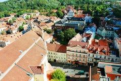 Zima w kapitale Lithuania Vilnius miasta Pasilaiciai okręg Obraz Stock