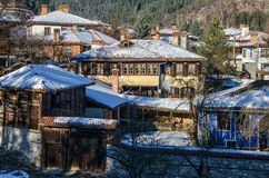 Zima w Koprivshtitsa, Bułgaria Zdjęcia Royalty Free