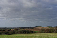 Zima w Lincolnshire Wolds, UK Obrazy Stock
