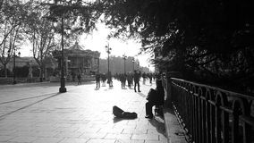 Zima w Madrid Zdjęcie Royalty Free