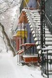 Zima w Montreal Zdjęcia Royalty Free