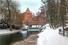Zima w Olsztyńskim zdjęcie stock