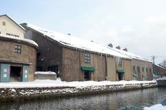 Zima w Otaru kanale, hokkaido, Japonia zdjęcie stock