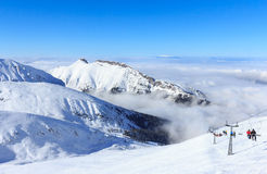 Zima w Tatras, widok z wierzchu Kasprowy Wierch Zdjęcie Stock