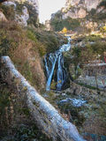 Zima w Tobera, Burgos, Castilla y Leon, Hiszpania Zdjęcie Royalty Free