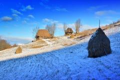 Zima w Transylvania Rumunia Zdjęcie Royalty Free