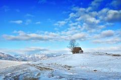 Zima w Transylvania Rumunia Zdjęcie Stock