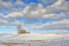 Zima w Transylvania Rumunia Zdjęcia Stock