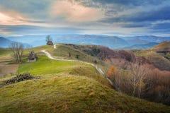 Zima w Transylvania Rumunia Obraz Royalty Free