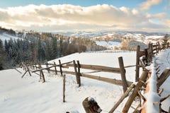 Zima w Transylvania Rumunia Obrazy Royalty Free