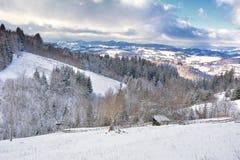 Zima w Transylvania Rumunia Zdjęcia Royalty Free